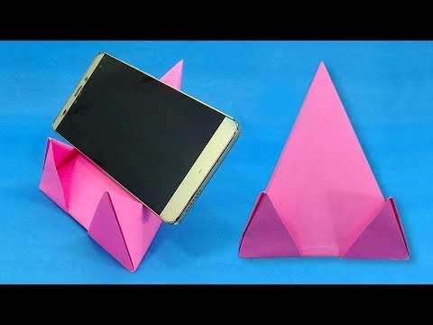 How To Make a Mobile Phone Stand With Paper | DIY Origami Cellphone Holder Easy