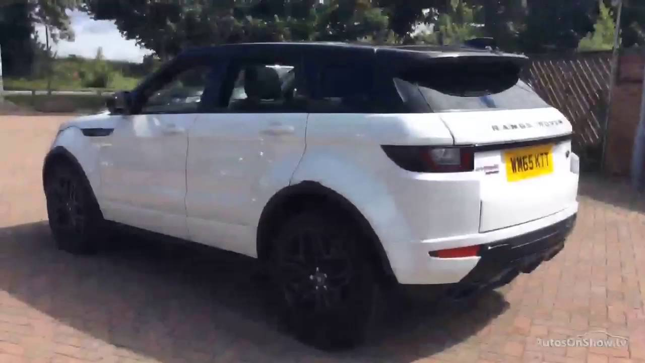land rover range rover evoque td4 hse dynamic lux white 2016 youtube. Black Bedroom Furniture Sets. Home Design Ideas