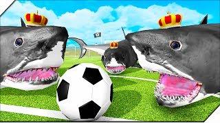 АКУЛЫ ФУТБОЛА против РАПТОРОВ - Игра Beast Battle Simulator. Битва динозавров.
