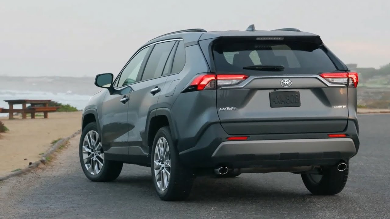 2019 Toyota Rav4 Limited Fwd Magnetic Grey Metallic Driving