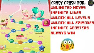 Candy Crush Saga Mod Apk (Unlimited Moves/Lives/Levels) on mobile