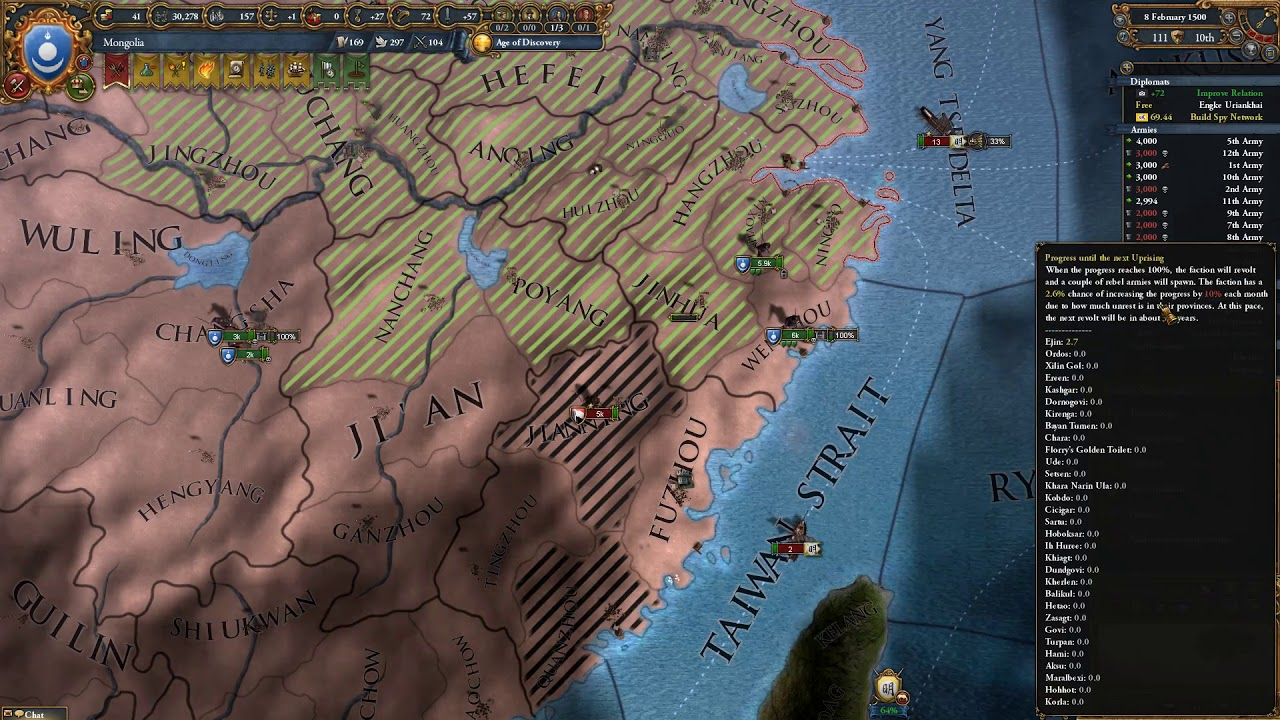 Eu4 Multiple Personality Mongolia Co-op with Arumba #10