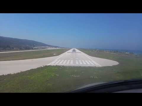 Rhodes Airport visual approach runway 25