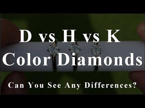 D vs H vs K Color Diamond Rings Comparison