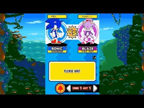 Sonic Rush - Battle Play Mode With MegamanSonicX!