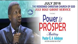Pastor E.A Adeboye Sermon At RCCG July 2016 HOLY GHOST SERVICE