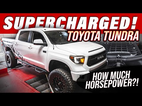 We Supercharged the Toyota Tundra 5.7 V8! /// How much Horsepower!?