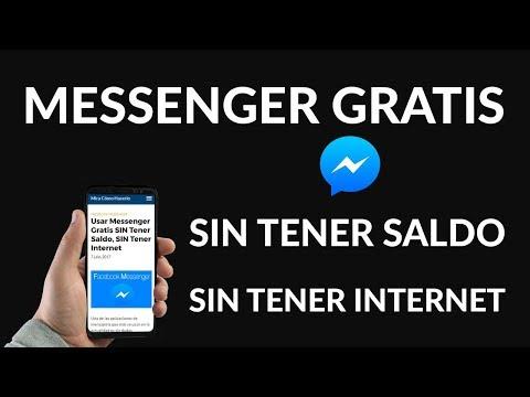 ¿Cómo Usar Messenger Gratis SIN Tener Saldo y SIN Tener Internet?