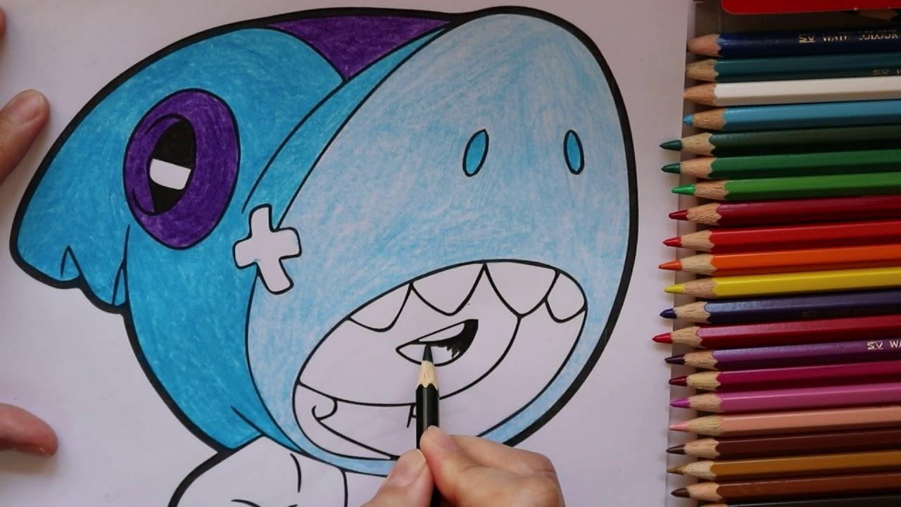 Сoloring LEON SHARK Brawl Stars Faber Castell | Раскраска ...