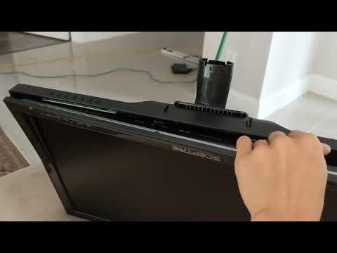 How to remove neck base and stand on Sceptre E24 monitor
