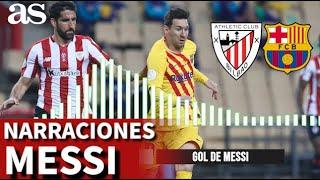 Athletic 0-Barcelona 4 | Así se narraron los goles de Messi al Athletic | Diario AS