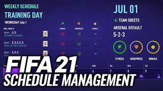HOW TO MANAGE YOUR SCHEDULE IN FIFA 21 CAREER MODE!