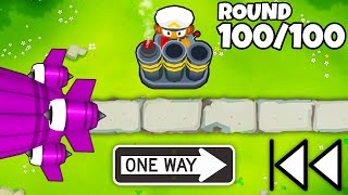 REVERSE Mode in Bloons TD 6?! (Crazy Mortar Monkey Strategy!)