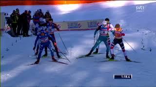 Sprint (F) Men's Final WC Seefeld 2018 - Johannes H. Klaebo wins TACTICAL race, Halfvarsson 3rd