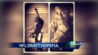 NFL Draft hopeful uses football to fuel his fire