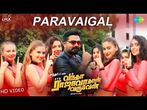 Paravaigal | Video | Vantha Rajavathaan Varuven | STR | Hiphop Tamizha |SundarC |Sanjith Hegde |LYCA