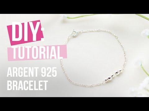 Bijoux à faire soi-même : Bracelets avec de la chaîne maille jaseron en argent 925