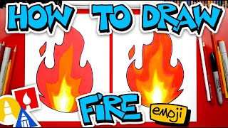 How To Draw The Fire Emoji 🔥