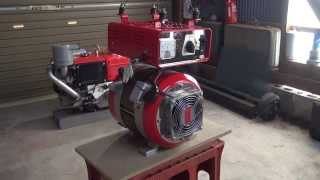 市販発電機の発電ユニットを、他の動力で駆動させる改造方法!