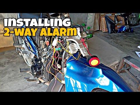 How to install 2-Way Alarm in Suzuki Smash115 | DIY | Legendary