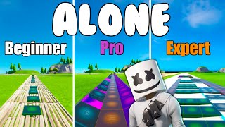 Marshmello - Alone Beginner vs Pro vs Expert  (Fortnite Music Blocks) - Code in Description
