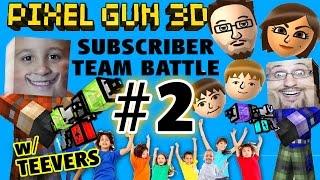 Let's Play Pixel Gun w/ MORE Teevers! Part 2 FGTEEV Subscriber Team Battles! w/ Mike & Dad Face Cam