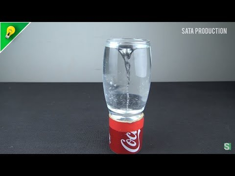Wow ! Whirlpool Cup with Spinning Magnet  | Amazing Coca Cola DIY