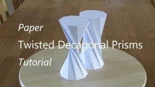 Twisted Decagonal Prism Tutorial