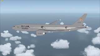 FSX Miami to Cancun full flight with Boeing 777 Fly Jlm