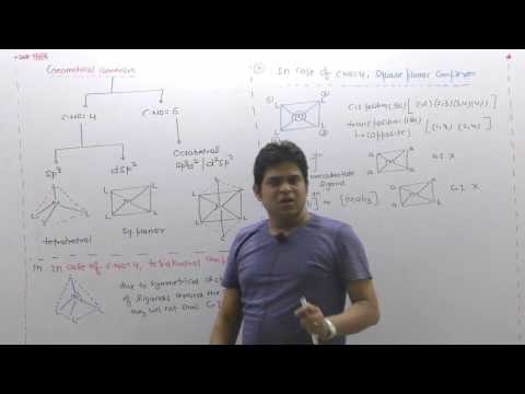 Geometrical isomerism in Coordination compound (CHEMISTRY)