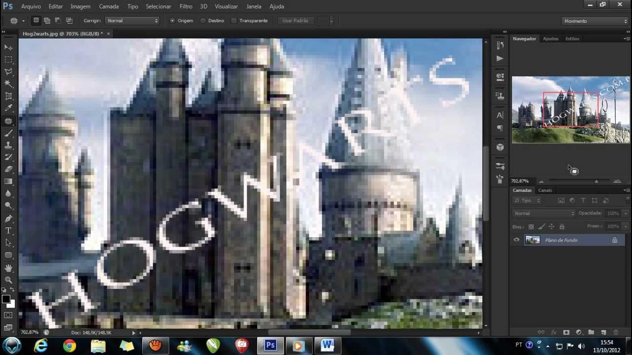 Como Remover Letras De Uma Imagem Pelo Photoshop Cs6 Youtube