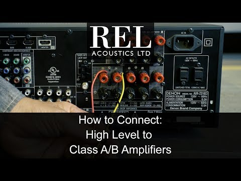 REL Acoustics How To: Connecting To A Standard Class A/B Amp Using The High Level Cable