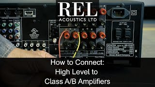REL Acoustics How To: Connecting to a Standard Class A/B Amp Using the High  Level Cable - YouTube | Rel Speakon Cable Wiring Diagram |  | YouTube