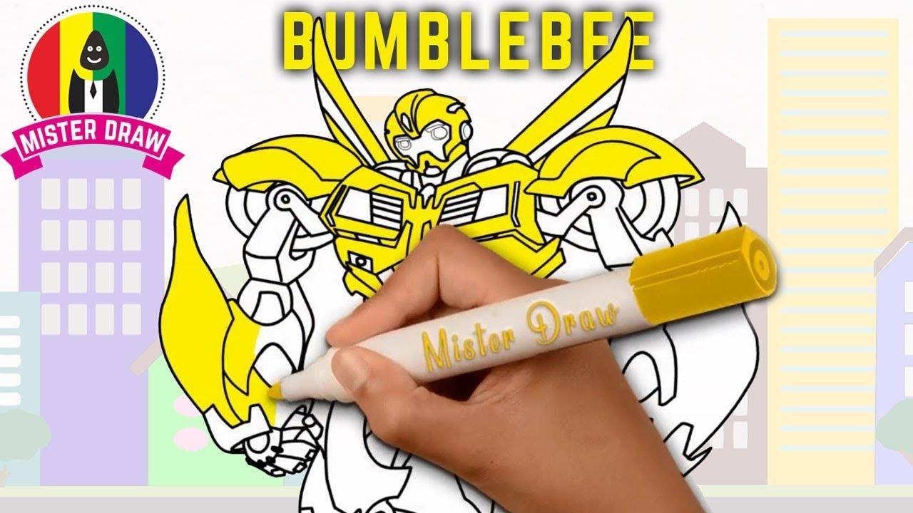 WOOOWW Cara Menggambar Robot Transformers Bumblebee Dengan