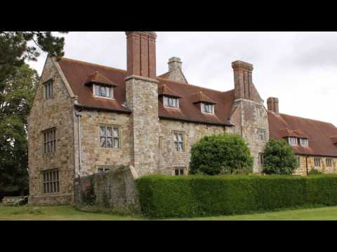 Michelham Priory England's longest water filled moat. East Sussex. 1080p HD