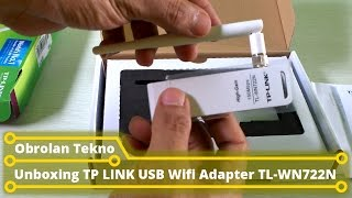 Unboxing TP LINK USB Wifi Adapter TL WN722N
