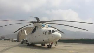 Mi-26 The Largest Helicopter in the World Loads a Fuel Truck in Kabul, Afghanistan