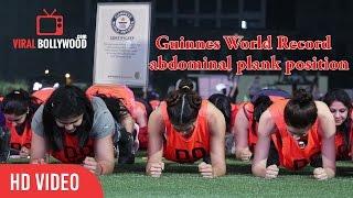 New Guinness World Record for Abdominal Plank Position for 60sec| Jacqueline fernandez, Sakshi Malik