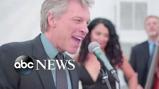 Jon Bon Jovi Sings Livin on a Prayer at Wedding