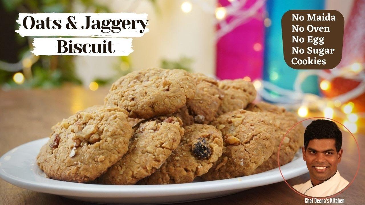 Oats & Jaggery Cookies   How to Cook Homemade Cookies   CDK #354   Chef Deena's Kitchen