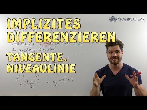 Implizites Differenzieren: Tangente, Niveaulinie + Beispiel