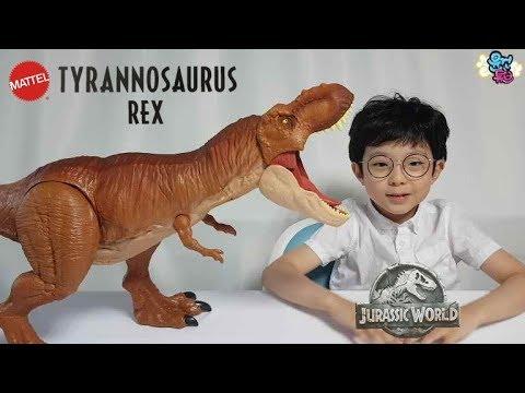 [윤건튜브] 티라노사우르스 티렉스 피규어 마텔 쥬라기월드 폴른킹덤 TyrannosaurusRex Figure JurrassicWorld FallenKingdom