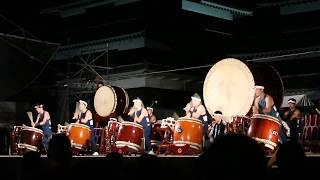 At the 2017 Matsumoto Castle Taiko Festival - an incredible perform...