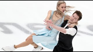 Синицина и Кацалапов Ритм танец Командный чемпионат мира по фигурному катанию 2021 года в Японии