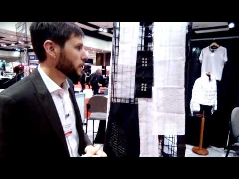 LED/Solar E-Textile by Forster Rohner at IDTechEx Show USA 2016