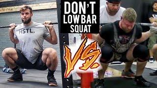 HIGH BAR vs LOW BAR SQUAT (Crossfit vs Powerlifting)