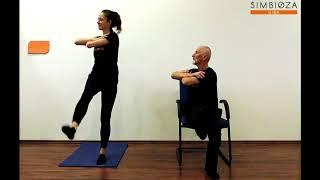 Simbioza Giba: Vaji - korakanje & dvig noge stegnjeno z zasukom trupa
