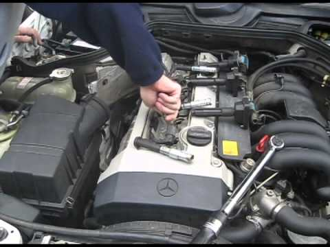 hqdefault 1994 mercedes e320 spark plug replacement (m104 engine, w124 w124 m104 wiring harness at cos-gaming.co