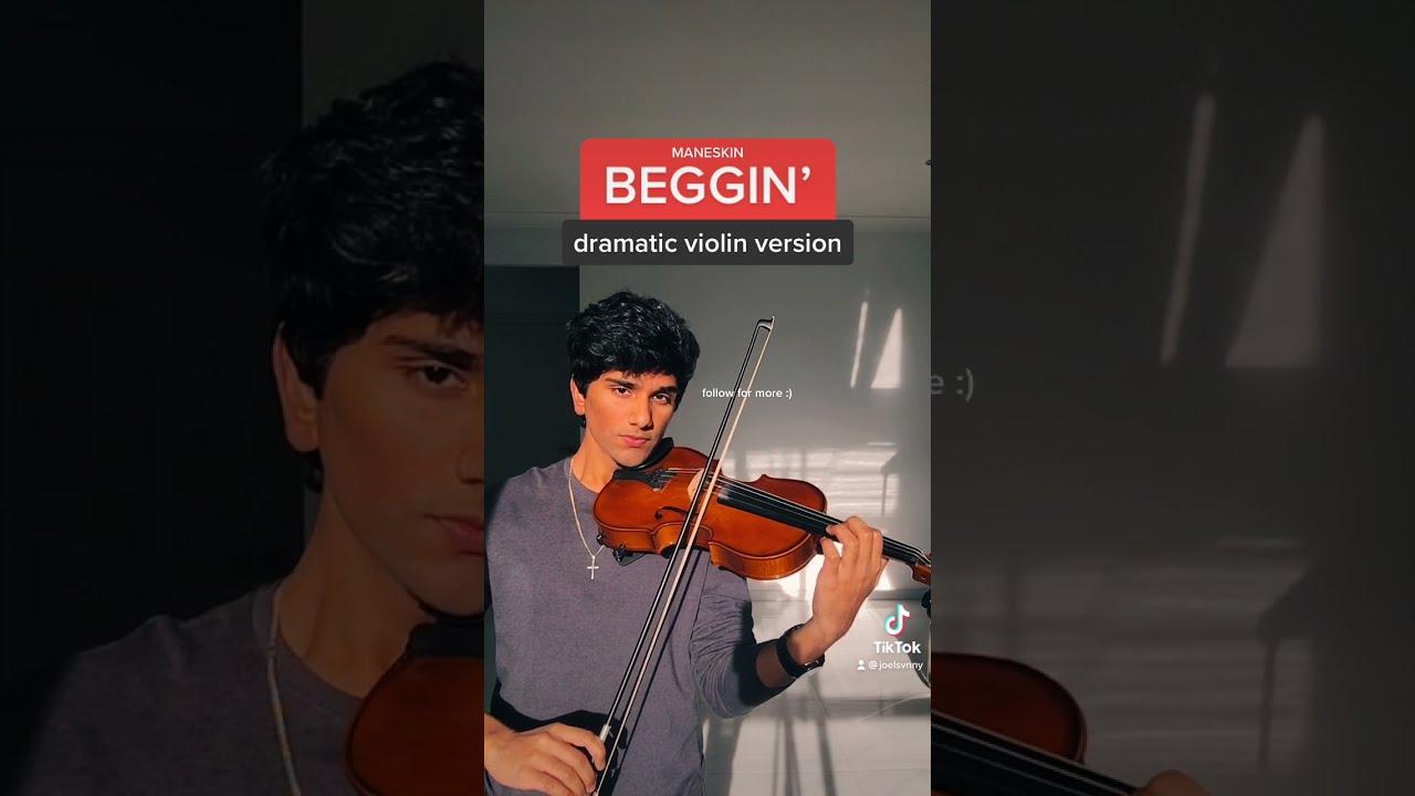 måneskin - beggin' (dramatic violin version) #shorts