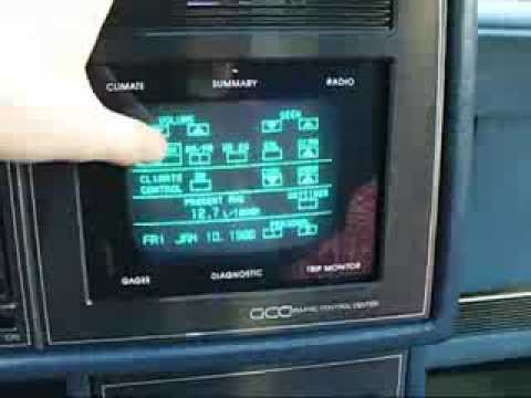 1987 Buick Riviera TouchScreen - YouTube
